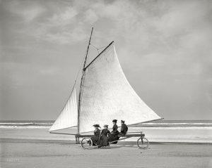 Early Sandyacht Transportation Vehicle